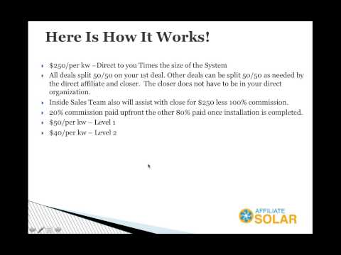 Affiliate Solar Overview - Utah Launch