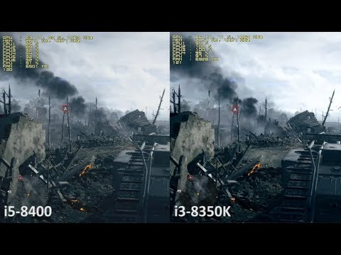 Intel i5-8400 vs. Intel i3-8350K in 10 Games with a Nvidia GeForce GTX 1060