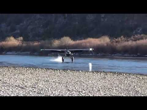 STOL Gravel Bar Husky Aircraft Landing