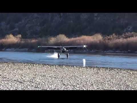 STOL Gravel Bar Husky Aircraft Landing