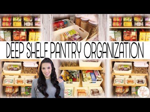 HOW TO ORGANIZE DEEP PANTRY SHELVES || Shirlee Alicia