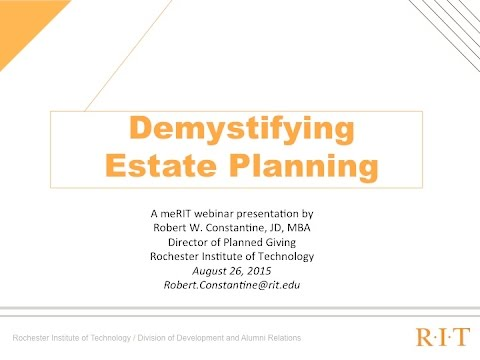 Demystifying the Estate Planning Process