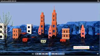 Blender Fluid Simulation - City Flood Tidal Wave - Take 2