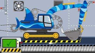 Koparka Rekin   Składanie w Fabryce - Film dla Dzieci