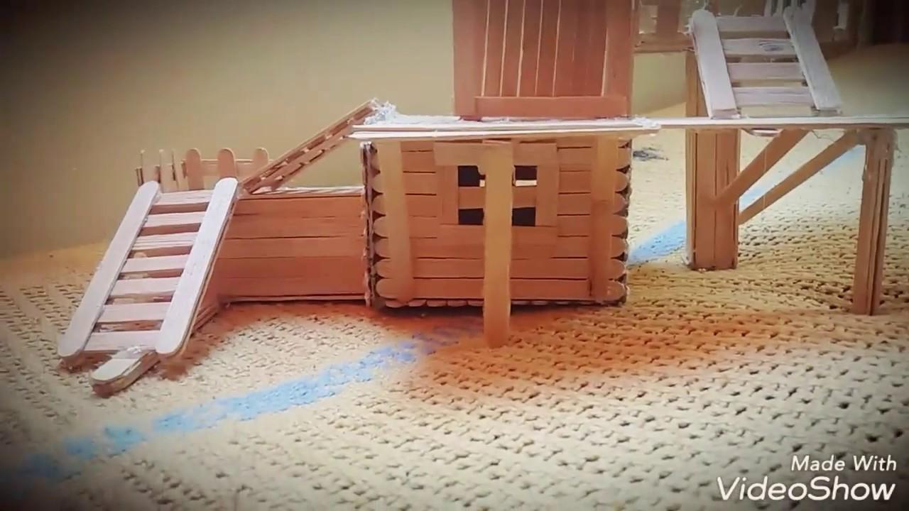 Casa para hamster con palitos de helado youtube - Casita con tobogan para ninos ...