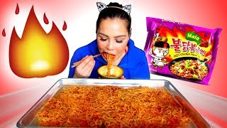 MALA SPICY FIRE NOODLE CHALLENGE  MUKBANG  EATING SHOW