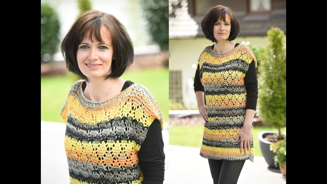 Tunesisch Häkeln Pulli Ajourmuster Bettina Woolly Hugs Bandy