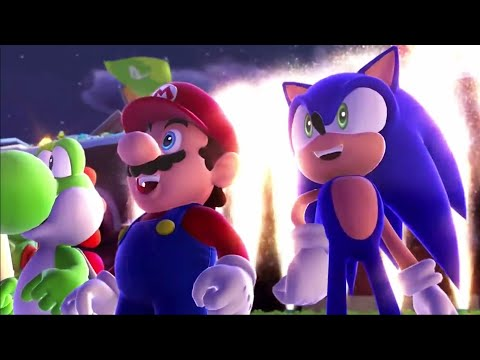 Mario and Sonic at the Sochi 2014 Olympic Winter Games - Legends Showdown Gameplay Event 1 (Wii U)