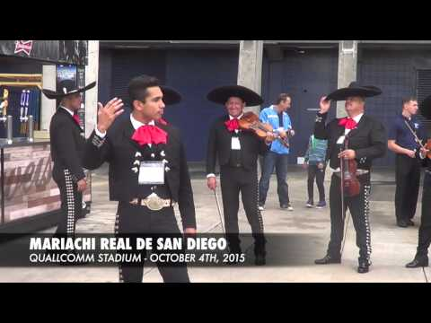 Mariachi Real De San Diego - El Rey @ Chargers Pre-Game Show (Quallcomm Stadium 2015)