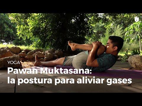 Expulsar postura gases para yoga