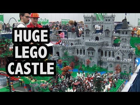 GIANT Custom LEGO Castle Fortress | Bricks Cascade 2017