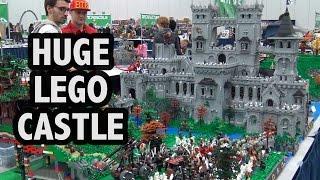 GIANT Custom LEGO Castle Fortress | Bricks Cascade 2017