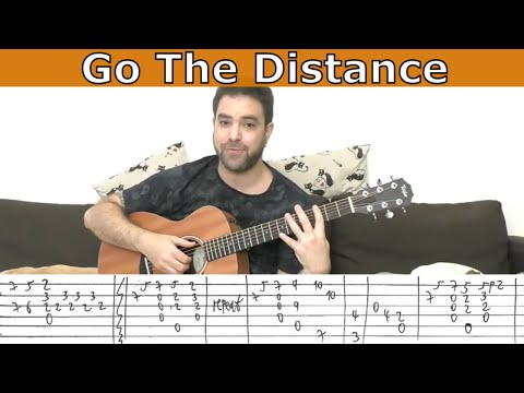 Fingerstyle Tutorial: Go the Distance (Hercules) - Guitar Lesson w/ TAB