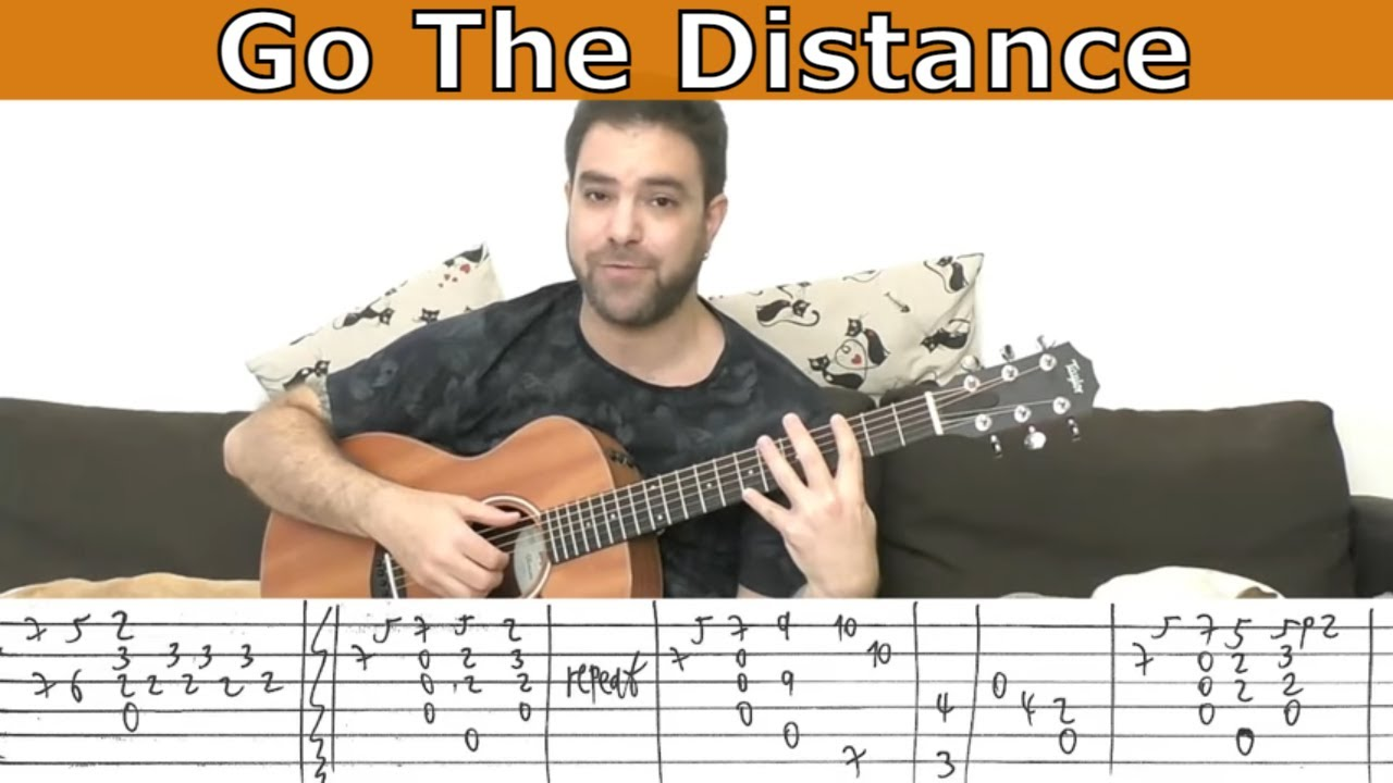 Fingerstyle Tutorial Go The Distance Hercules Guitar Lesson W