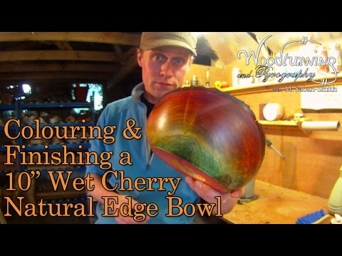 #33 Colouring a Turned Natural Edge Cherry Bowl