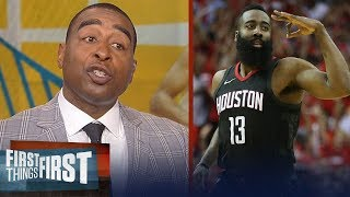 Cris Carter on how Harden's Rockets beat Curry, KD's Warriors in Game 2 | NBA | FIRST THINGS FIRST