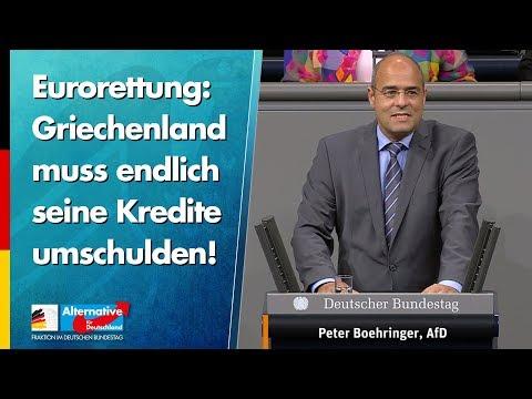 Eurorettung: Griechenland muss endlich seine Kredite umschulden! - Peter Boehringer - AfD-Fraktion