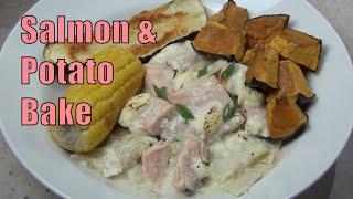 Salmon Potato Bake cheekyricho youtube video recipe