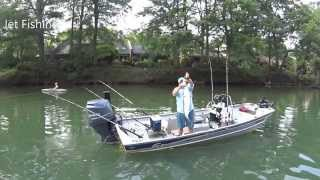 River Striper Fishing in the Jet Jon SeaArk and G3