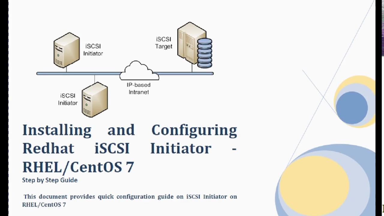 RHEL,CentOS 7 Installing and Configuring iSCSI Initiator