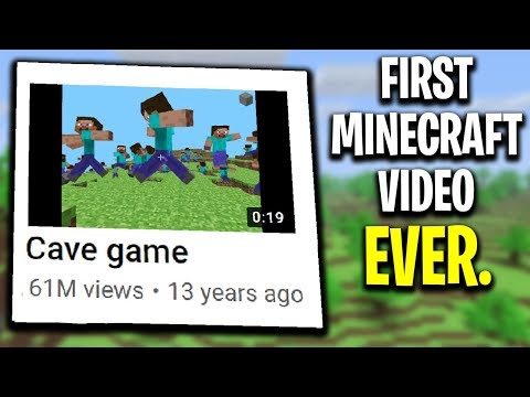 I Found the FIRST Minecraft Video Ever Uploaded