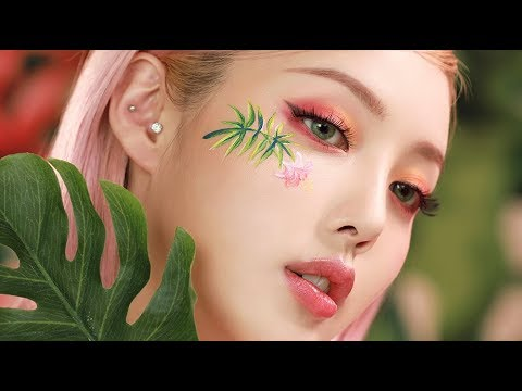 Tropical Makeup (With subs) 🌺🍍트로피컬 메이크업🌴