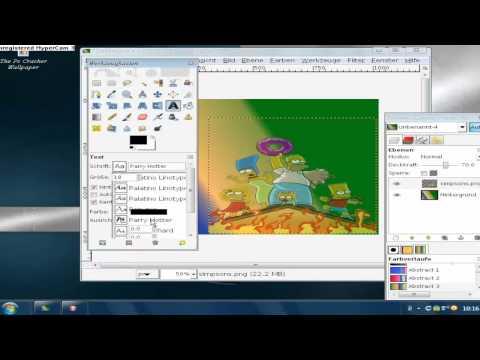 Wallpaper erstellen in gimp tutorial german hd youtube for Wallpaper erstellen