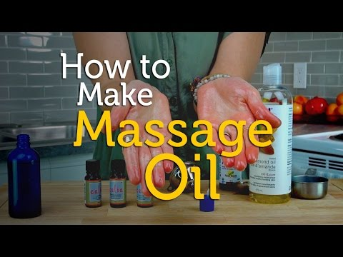 How To Make Relaxing Massage Oil   Aromatherapy Recipe