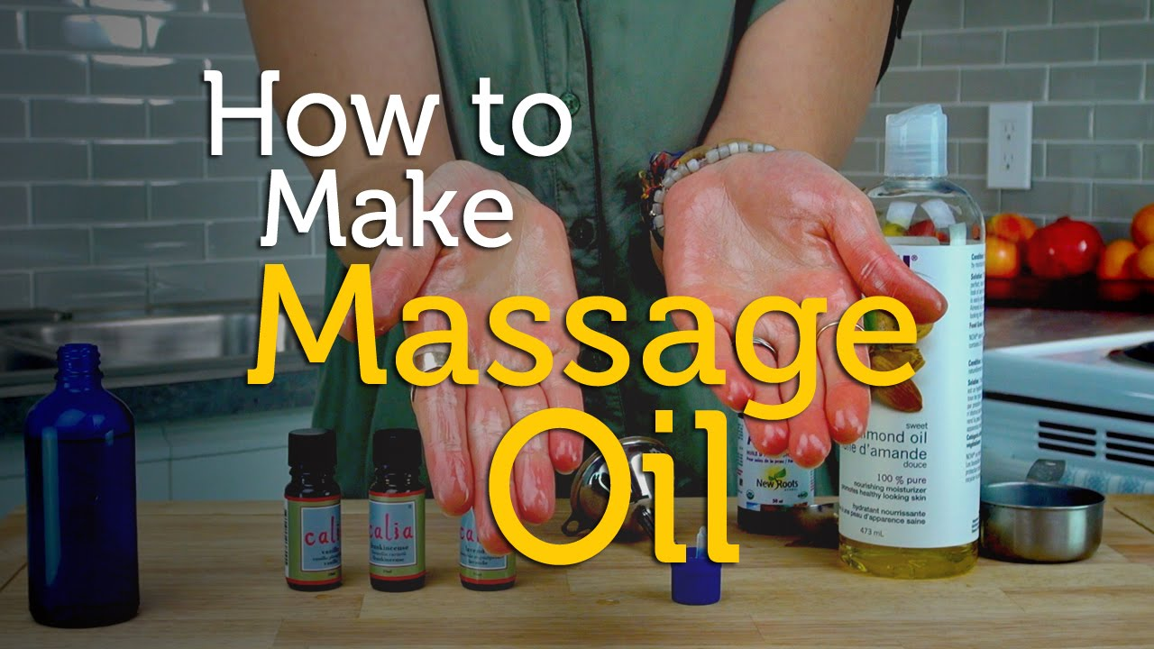 How To Make Relaxing Massage Oil | Aromatherapy Recipe