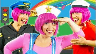 The Transportation Song   Education Song For Kids   Train Bus Boat & Car   My Aeroplane   Debbie Doo