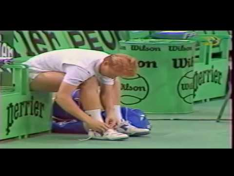 Boris Becker vs John McEnroe  SF Paris Bercy 89 Part1