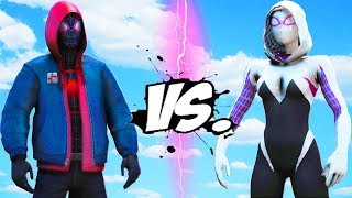 Spider-Man (Miles Morales) VS Spider-Woman (Gwen Stacy)