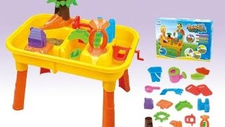 """Видео обзоры детские игрушки  - Набор для игры с песком """"Городок с мельницей"""""""