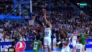 Ante Zizic Highlights vs Real Madrid (17 pts, 8 reb)