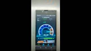 Reliance Jio 4G Speed test on Yu Yuphoria