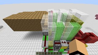 Minecraft- Easy to build automatic tree farm with leaf crusher