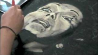 Painting Norma Desmond with Clorox Bleach