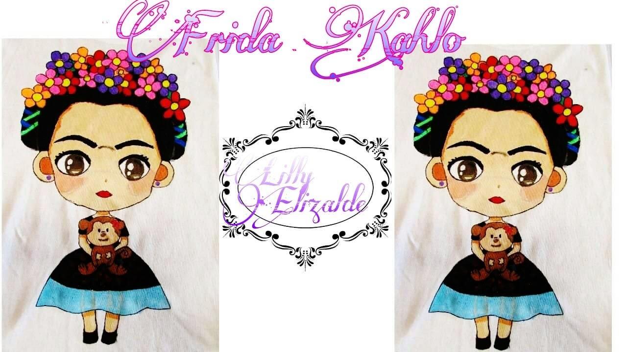 Frida Kahlo Camisa Pintada A Mano Frida Kahlo Painted On A Shirt