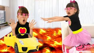 The floor is lava - All best episodes for kids with lava challenge and Abby Hatcher