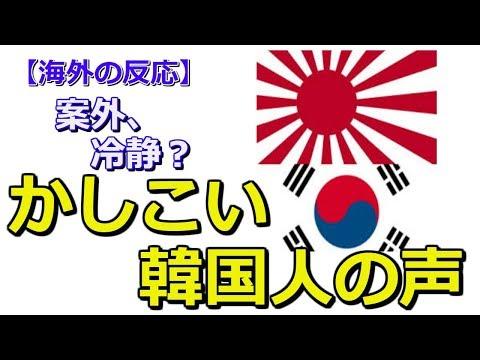【海外の反応】韓国人の声 案外冷静に考えてる人もいた。