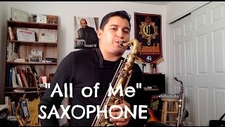 JAZZ STANDARDS - All of Me TENOR SAXOPHONE INSTRUMENTAL