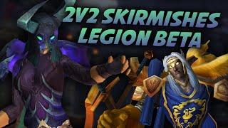 Prot Warrior & Affliction Warlock 2v2 Skirmishes - Swifty Plays Wow Legion Beta