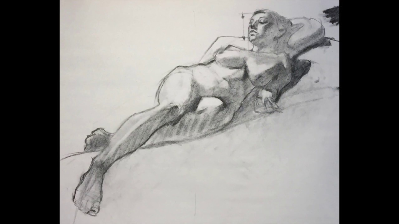 RARE Charcoal Drawing Demo PREVIEW - Foreshortening Explained - Female Reclining by Steve Carpenter & RARE Charcoal Drawing Demo PREVIEW - Foreshortening Explained ... islam-shia.org