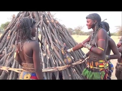 African girls are being circumcised, interesting tribal traditions