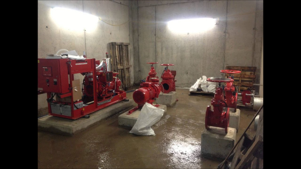 Fire Sprinkler System Pump House Build Youtube