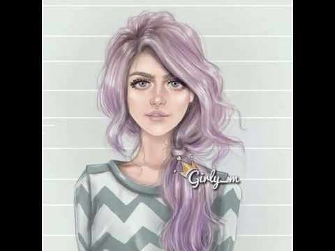 Красивые нарисованные девушки 😊😊❤ 1