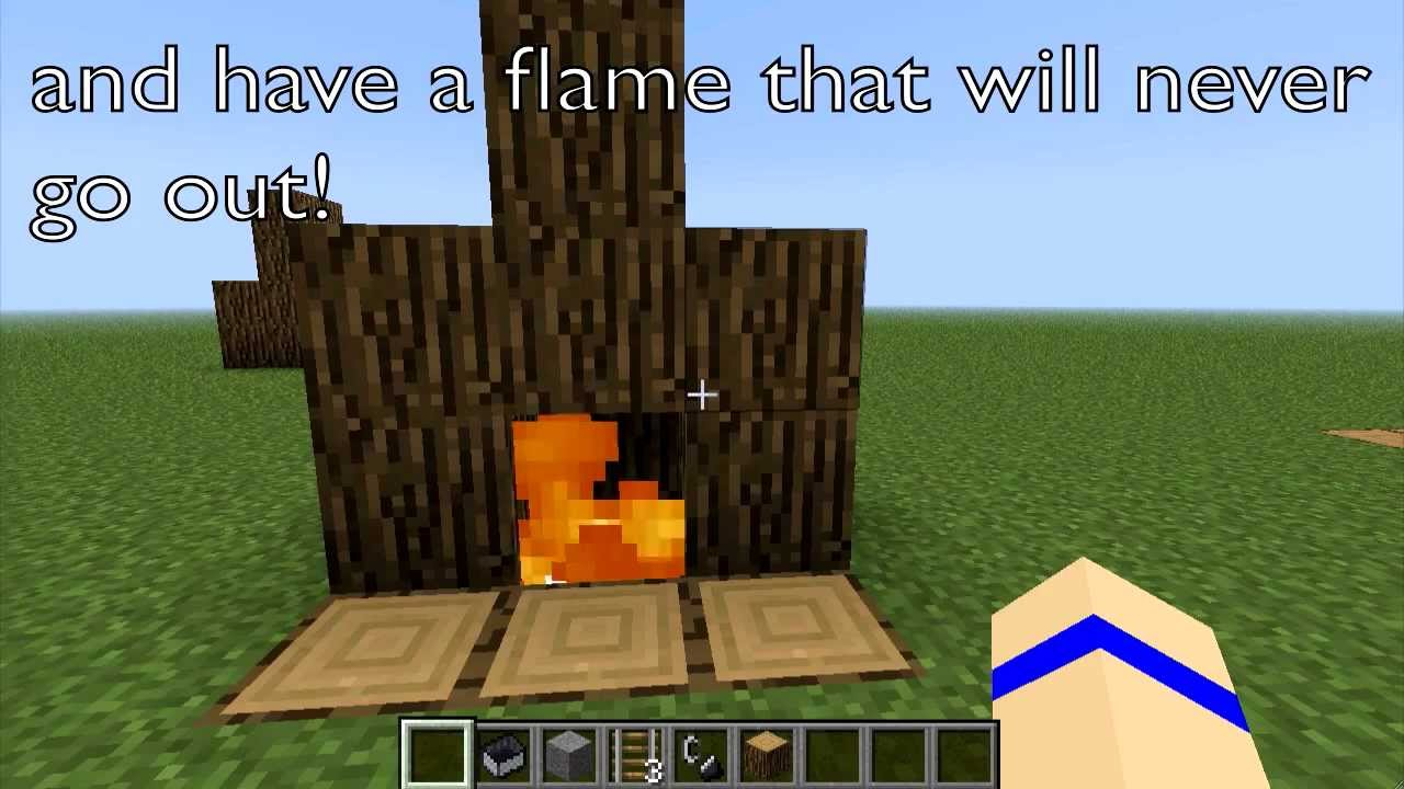 how to make a fireplace that doesn u0027t burn blocks and never goes