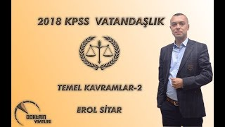 KPSS VATANDAŞLIK TEMEL KAVRAMLAR 2