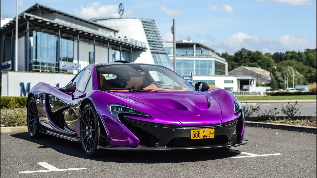 How Much Does It Cost To Paint A Car >> INSANE Purple McLaren P1 Fast Acceleration, Race Mode and ...