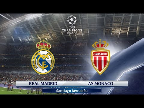 Real Madrid vs AS Monaco Champions League First Knockout